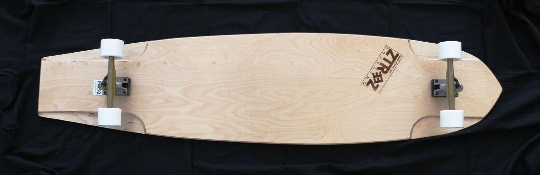 Deck mit Achsen-/Rollenkombination weiß/gold/silber
